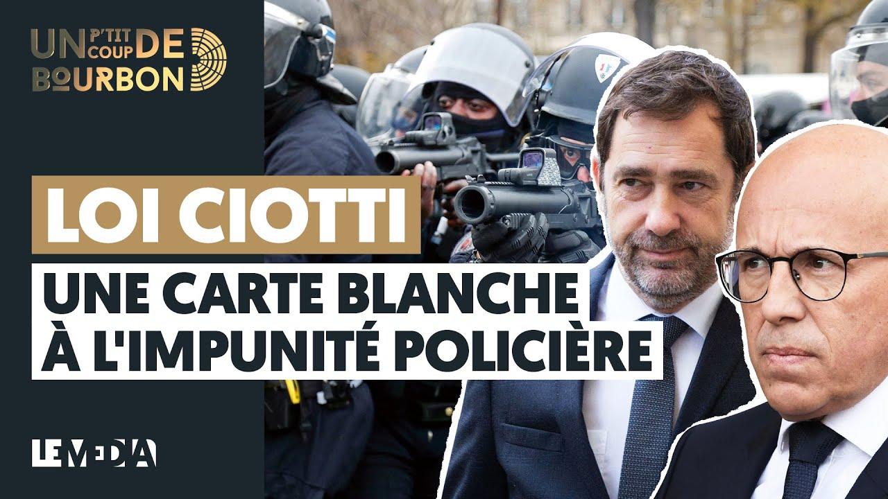 LOI CIOTTI, UNE CARTE BLANCHE À L'IMPUNITÉ POLICIÈRE