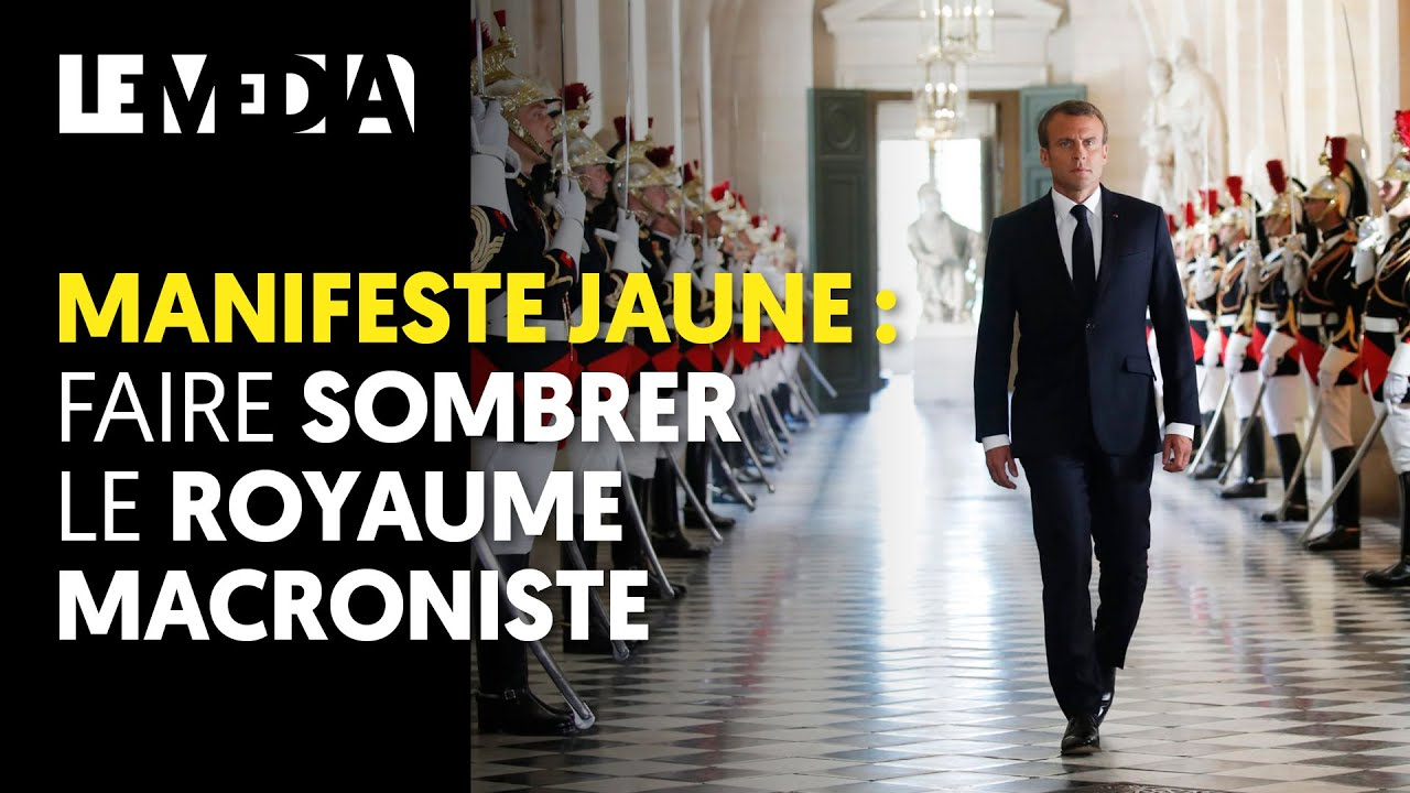 MANIFESTE JAUNE : FAIRE SOMBRER LE ROYAUME MACRONISTE