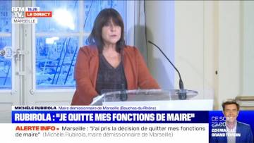 """Michèle Rubirola: """"'J'ai pris la décision de quitter mes fonctions de Maire de Marseille"""""""