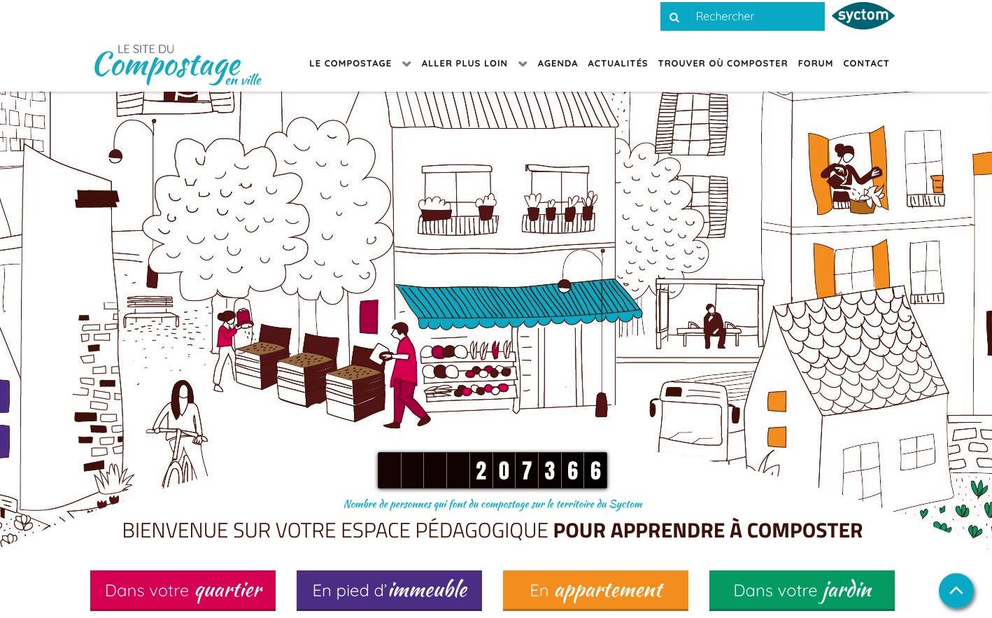 Le site du compostage en ville : jecomposteneville.fr