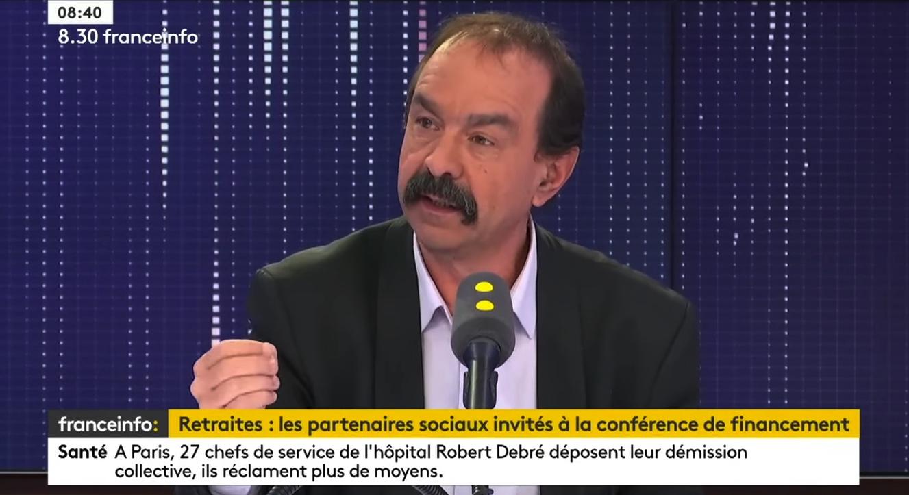 Retraites – À la veille de la manif' du 29 janvier, Philippe Martinez (CGT) invité de franceinfo