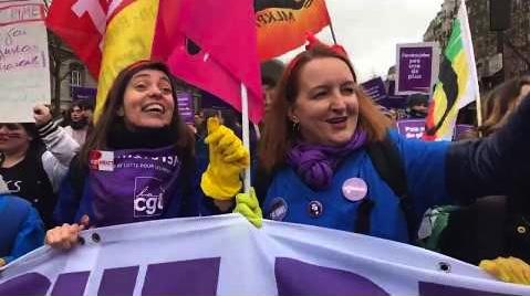 60 000 personnes manifestent pour les droits des femmes