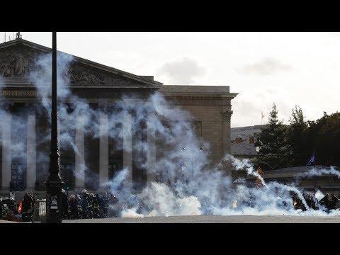 Tir de gaz lacrymogène à l'acte 49 à Dijon !