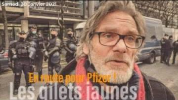 En route pour Pfizer. Les Gilets Jaunes #Paris #30Janvier2021