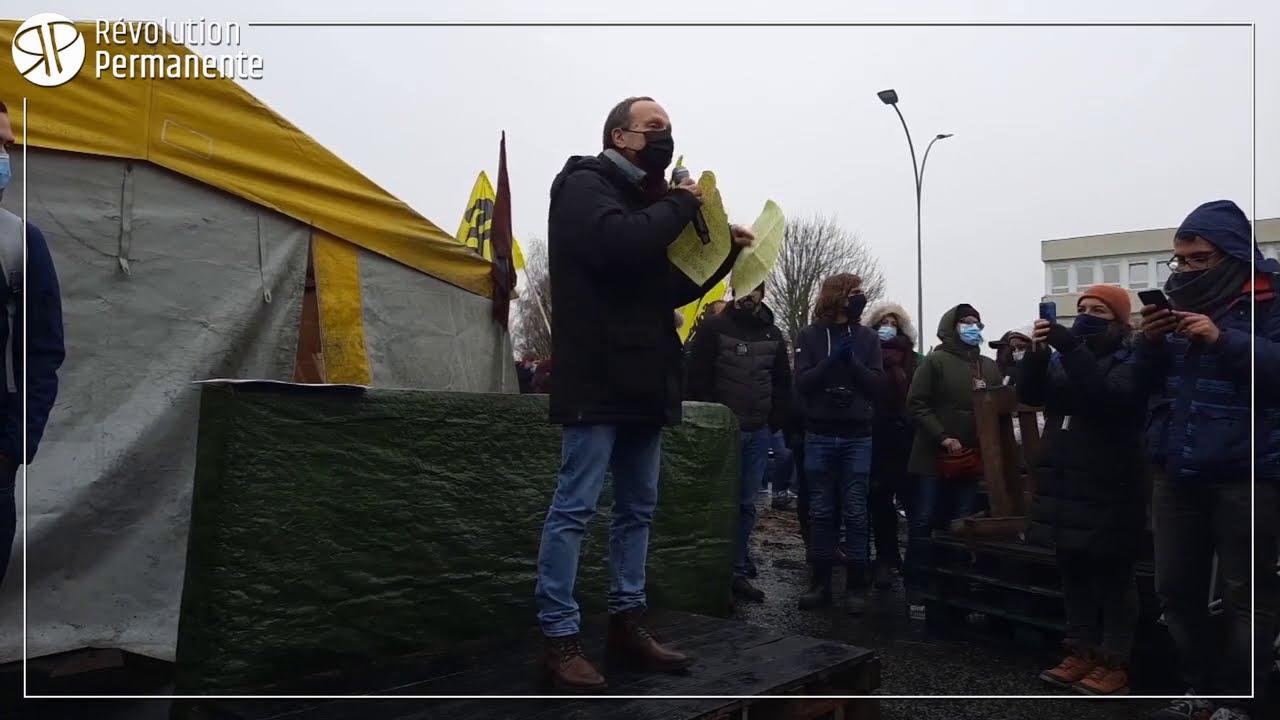 """Frédéric Lordon en soutien à Grandpuits : """"Un système vicieux c'est un système à détruire"""""""