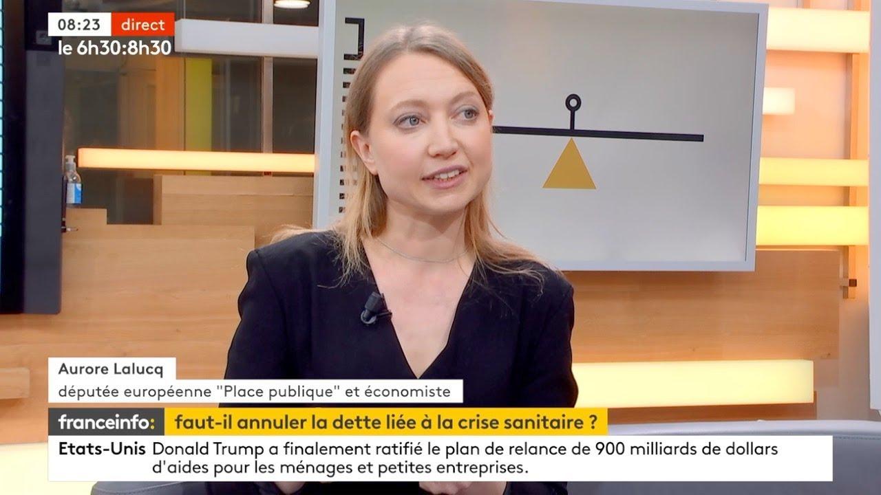 """Itw d'Aurore Lalucq, eurodéputée Place publique: """"Il s'agit d'annuler la dette détenue par la BCE"""""""
