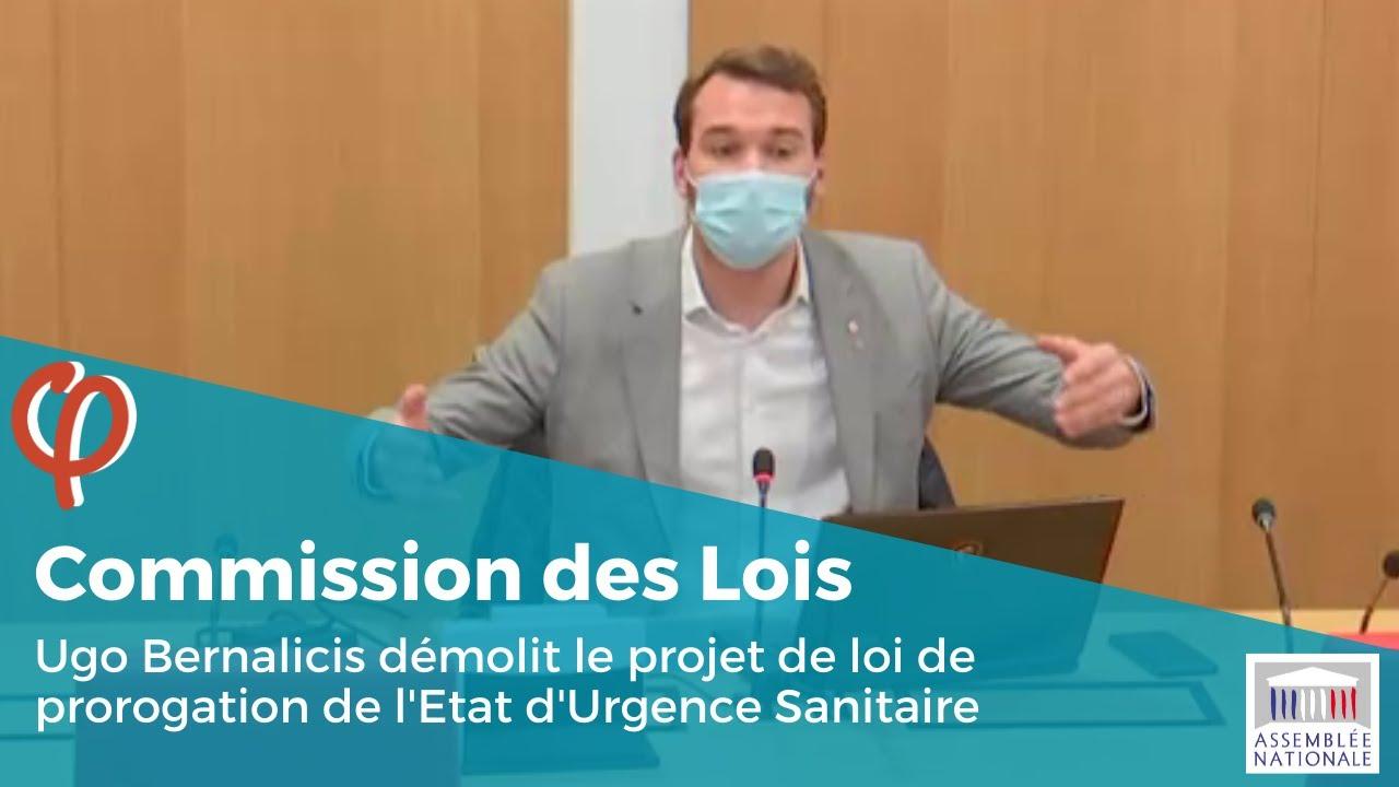 Ugo Bernalicis démolit le projet de loi de prorogation de l'Etat d'Urgence Sanitaire