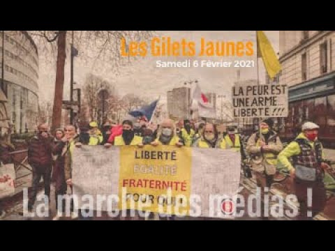 En direct: Les Gilets Jaunes et la marche des médias #Paris