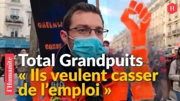 Grandpuits : les raffineurs en grève en tête de cortège de la mobilisation du 4 février