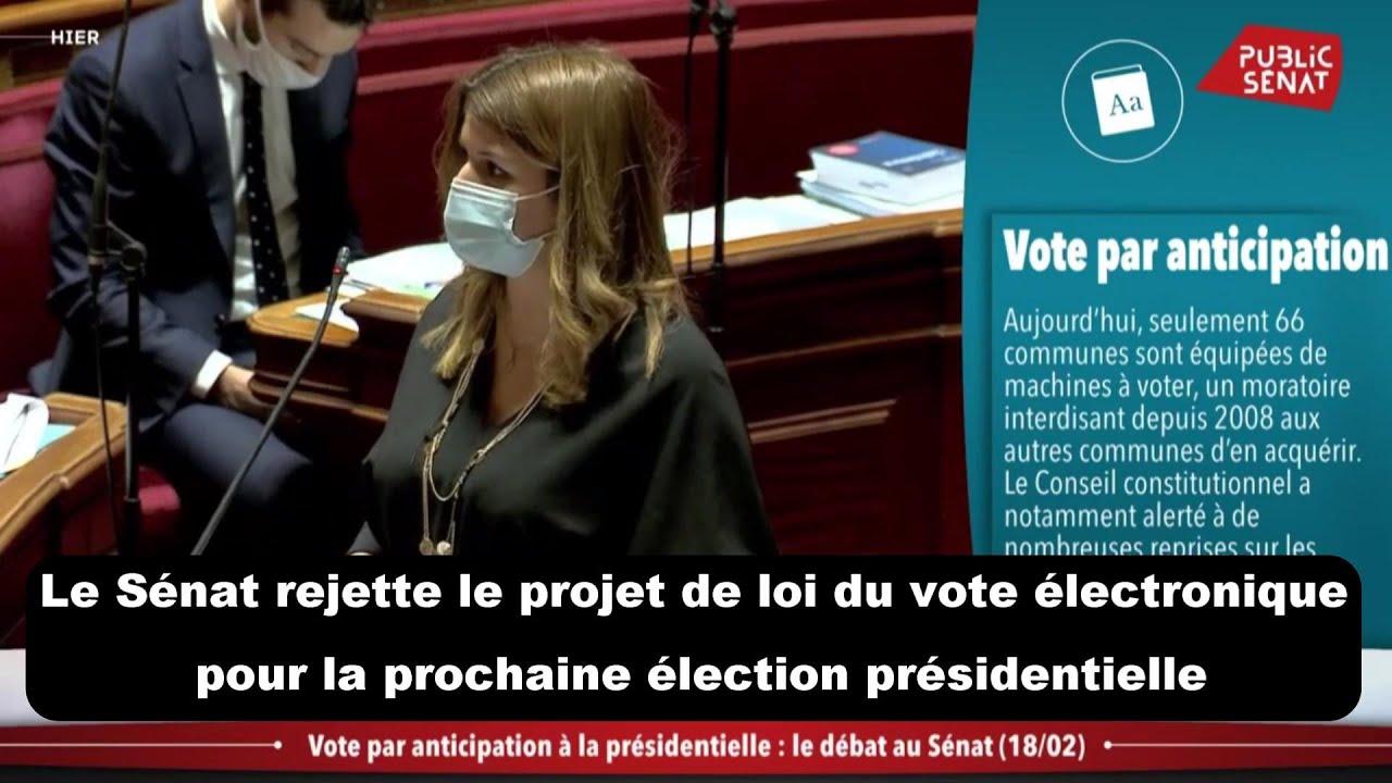 Le Sénat rejette le projet de loi du vote électronique pour la prochaine élection présidentielle
