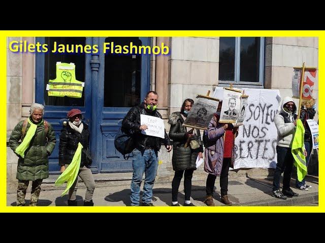 Besançon Flash-mob devant la permanence du député Eric ALAUZET