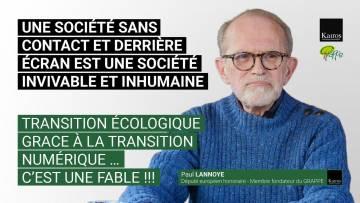 UNE SOCIÉTÉ SANS CONTACT ET DERRIÈRE ÉCRAN EST UNE SOCIÉTÉ INVIVABLE ET INHUMAINE