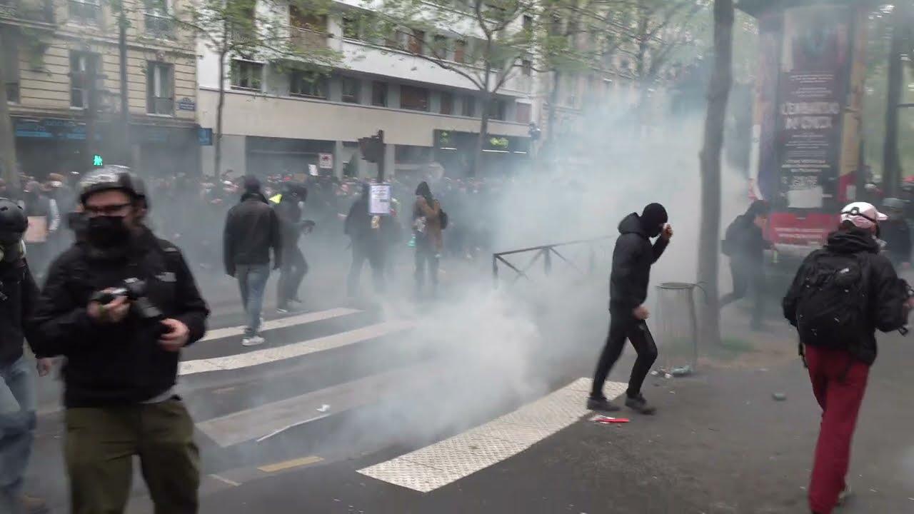 1er-Mai : violents incidents durant la manifestation (1er Mai 2021, Paris)