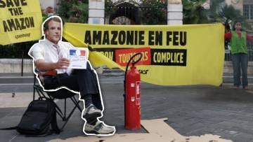 [ACTION] Amazonie : Emmanuel Macron complice de la déforestation