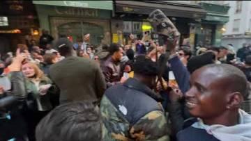 La police fait respecter le couvre-feu à Chatelet (22 mai 2021, Paris)