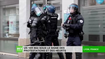 Un 1er-mai sous le signe des protestations et des heurts