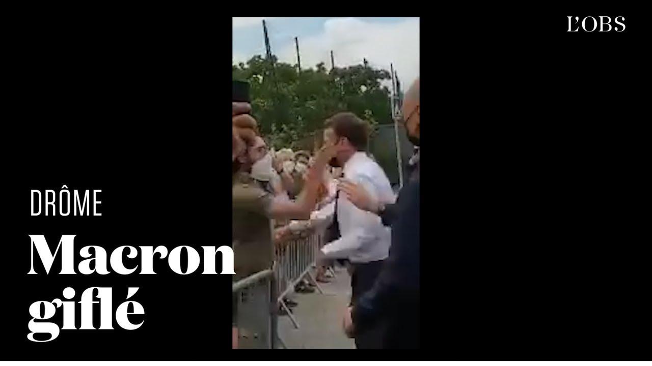 Emmanuel Macron giflé lors de son déplacement dans la Drôme