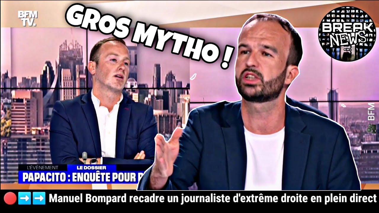 Manuel Bompard recadre un journaliste d'extrême droite en plein direct