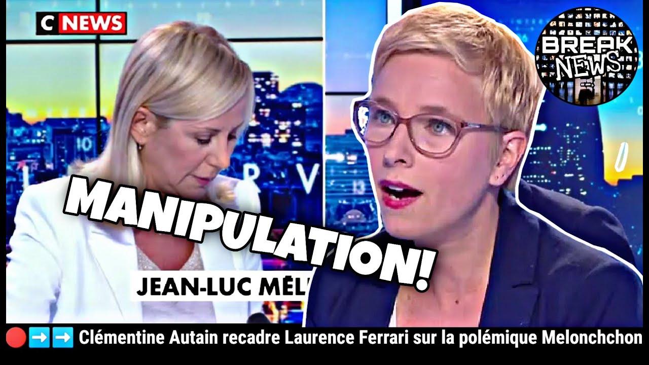 Sang froid magistral Clémentine Autain recadre Ferrari sur l'affaire Mélenchon