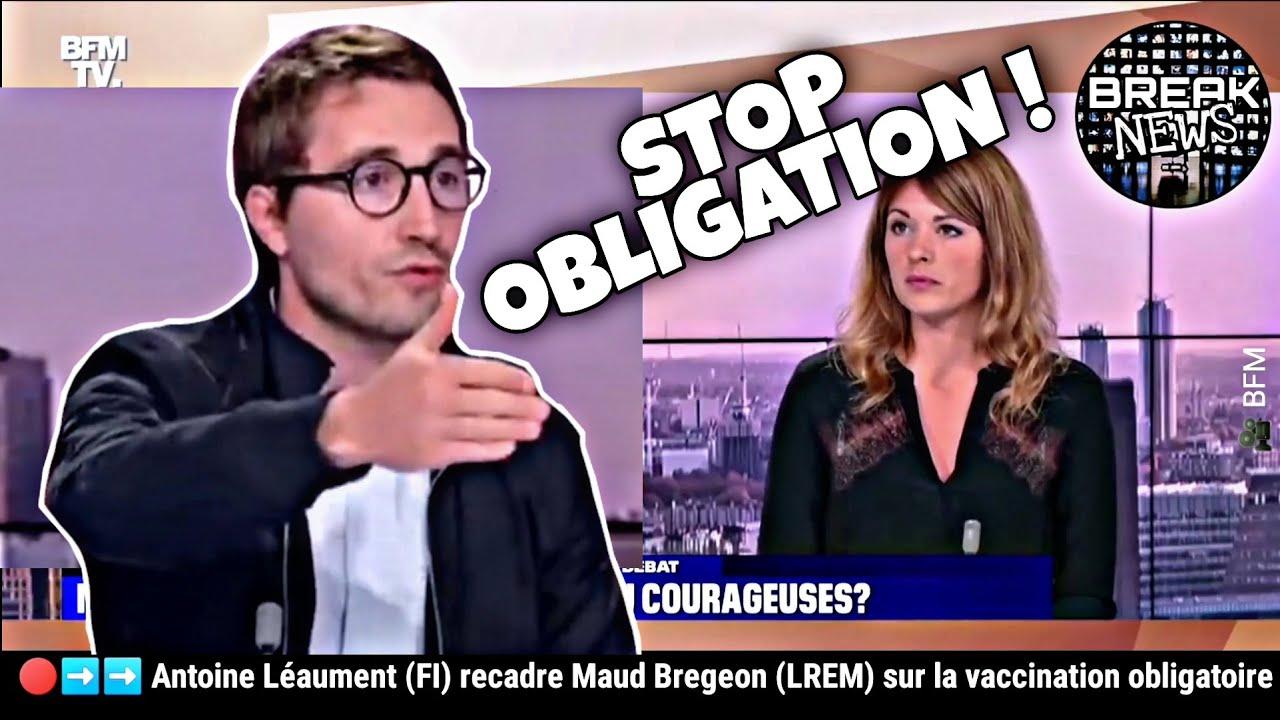 Antoine Léaument (FI) recadre Maud Bregeon (LREM) sur la vaccination obligatoire