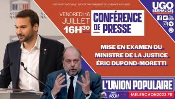 CONFÉRENCE DE PRESSE – Mise en examen du ministre de la Justice, Eric Dupond-Moretti
