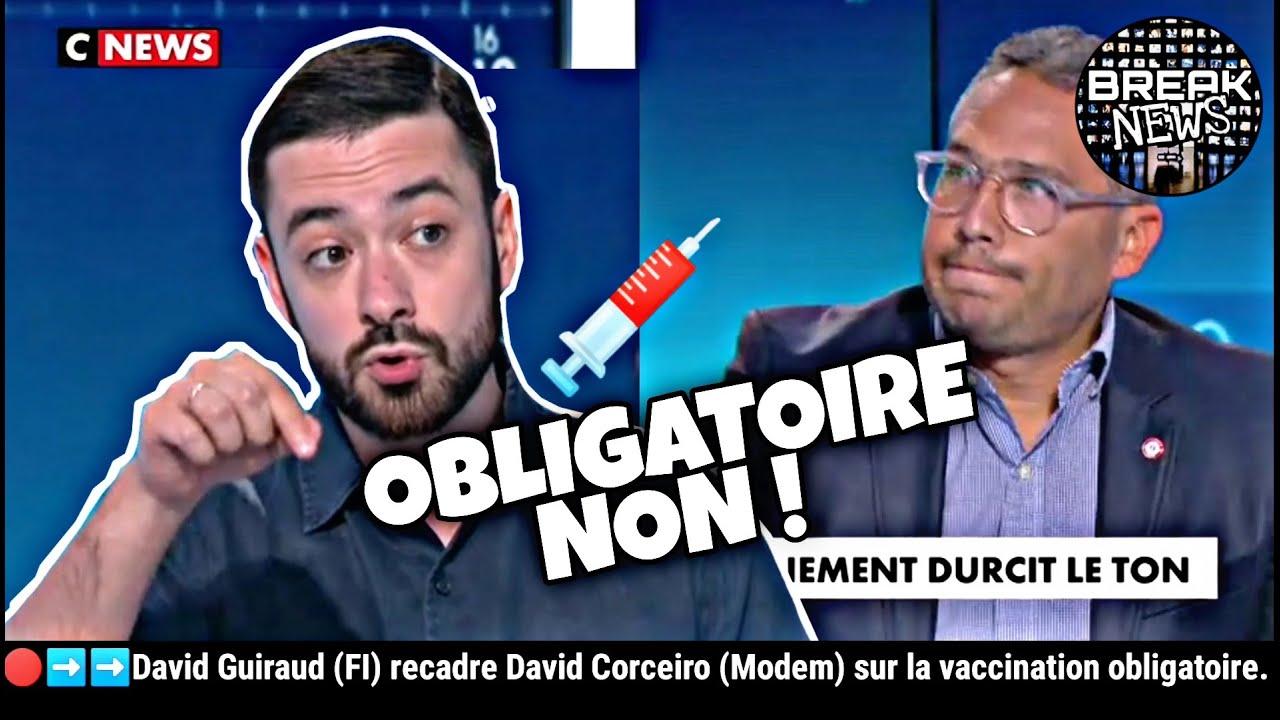 David Guiraud (FI) recadre David Corceiro (Modem) sur la vaccination obligatoire