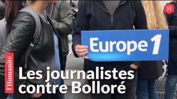 Europe 1 : 200 journalistes rassemblés contre la main-mise de Bolloré