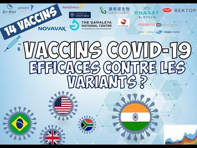 Vaccins et COVID-19 : efficacité contre les variants ? COMPARATIF de 14 vaccins