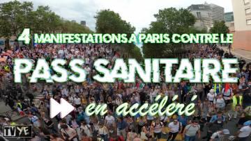 [ACCÉLÉRÉE] 4 manifestations complètes contre le Pass Sanitaire – Paris – 28 aout 2021