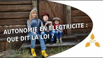Est-il légal d'être autonome en électricité en France ?