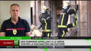Grève des pompiers : «Nous ne sommes pas en accord avec l'obligation vaccinale»