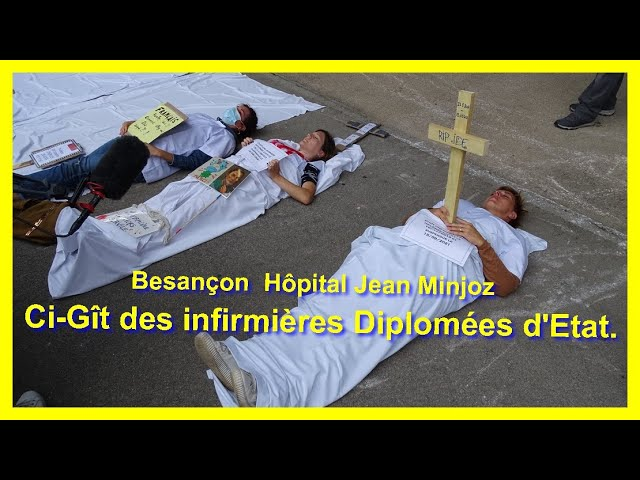 Besançon : Ci-Gît des infirmières Diplômées d'État