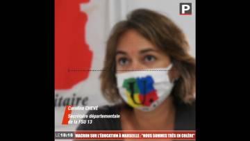 """Emmanuel Macron sur l'éducation à Marseille : """"Nous sommes très en colère"""" (FSU 13)"""